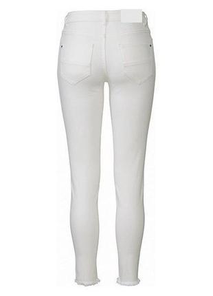Джинсы женские скинни белые с бахромой esmara германия р. 48-503 фото