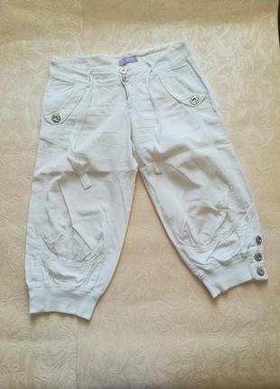 Бриджи капри капрі бріджі шорти брюки штани коттон бавовна хлопок