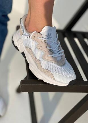 Женские кросовки adidas ozweego white