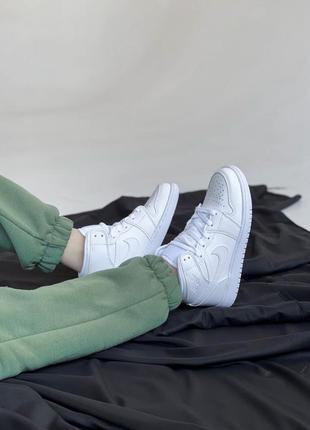 Nike air jordan white кроссовки найк женские джордан обувь кеды