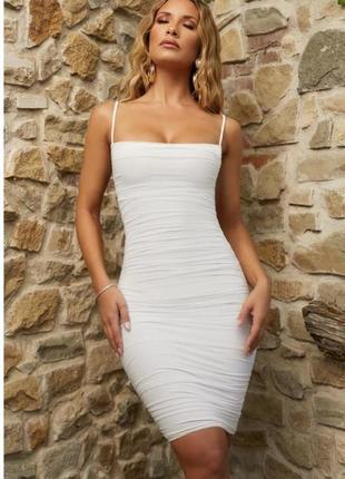 Базовое белое платье от oh polly