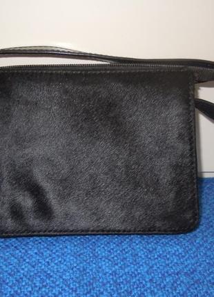 Клатч из натуральной кожи. сумочка. кошелёк. косметичка.