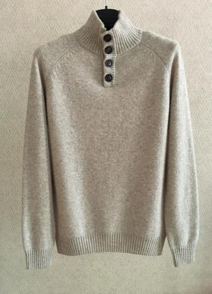Шерстяной свитер с высоким горлом springfield