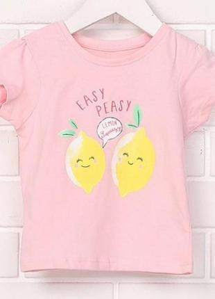 Футболка primark bdo43719 068 см (3-6 months) рожевий два лимона 60330