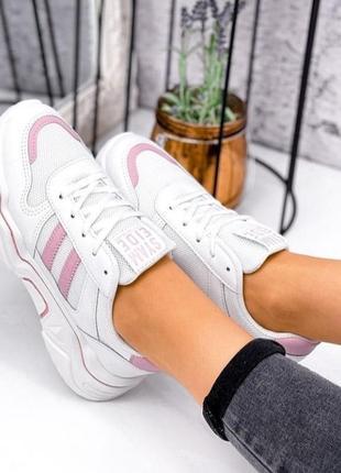 Стильні жіночі кросівки р-ри 37-39, маломірять на розмір