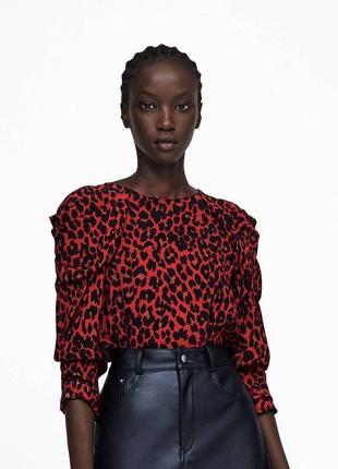 Блуза зара , леопардовый принт