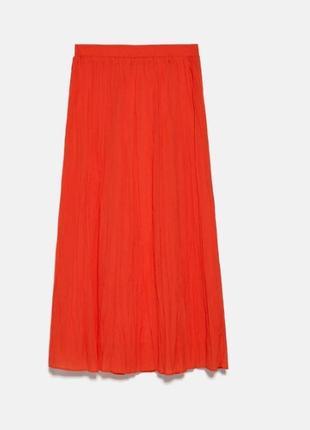 Юбка zara ультра-модный оранжевый мка