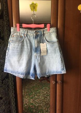 Zara, новые джинсовые женские шорты 42р.(м)