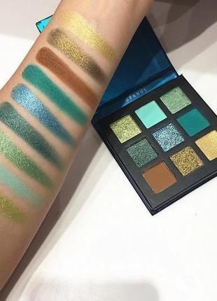 🌌👽 космическая палетка теней для век beauty glazed uranus brighteyeshadow уран (9 color)