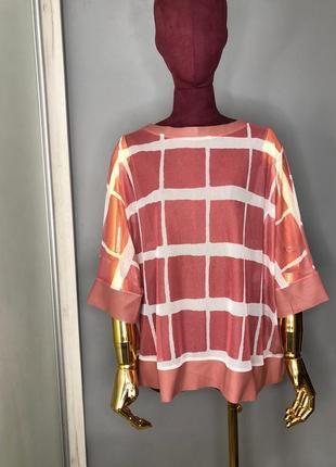 Полупрозрачная блуза туника сетка с экокожей оверсайз свободная кожаная футболка rundholz owens