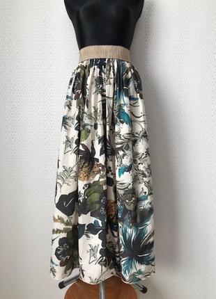 Оригинальная длинная юбка в пол на поясе резинке, италия, размер s-l