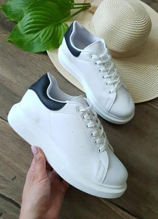Кроссовки женские белые shoes nly,англия 39размер
