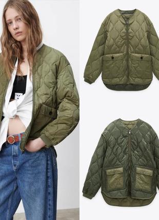 Двусторонняя стеганая куртка зара под заказ
