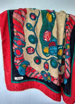 Винтажный шелковый платок, подписной  бренд piramit