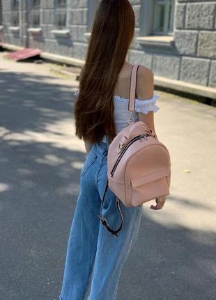 Пудровый рюкзак трансформер 2 в 1 со сьемными ремешками
