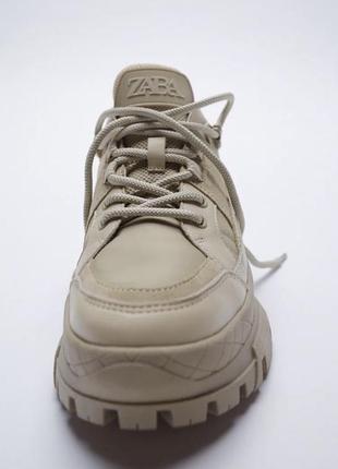 Кросівки zara на масивній підошві