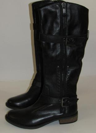 Moda in pelle высокие утепленные кожаные сапоги  t2