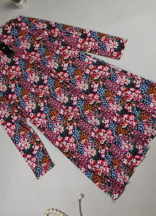 Платье новое стильное трикотажное в цветочный принт marks&spencer uk 16/44/xl
