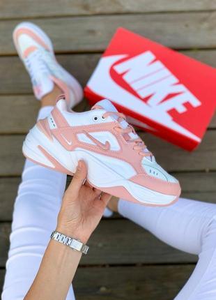 Кросівки nike m2k tekno 'white pink' кроссовки