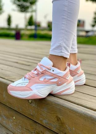 Кросівки nike m2k tekno 'white pink' кроссовки3 фото