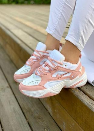 Кросівки nike m2k tekno 'white pink' кроссовки5 фото