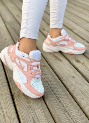 Кросівки nike m2k tekno 'white pink' кроссовки7 фото