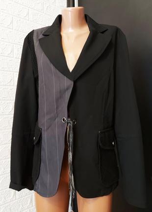 Пиджак в стиле ресайкл, тренд 2021, комбинированный