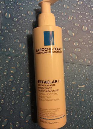 Очищающий успокаивающий крем-гель для жирной, проблемной кожи la roche-posay effaclar h