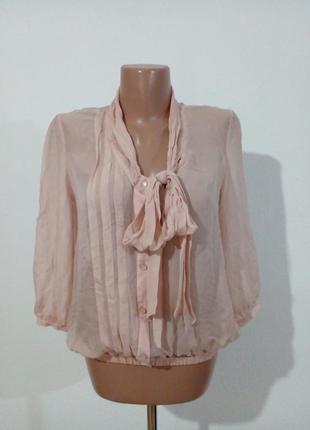 Нежная пудровая блуза