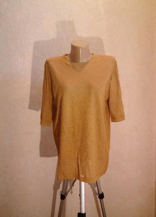 Золотая футболка missoni