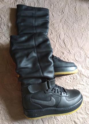 Оригинал женские сапоги/высокие кроссовки/ботинки nike air force 1 upstep warrior