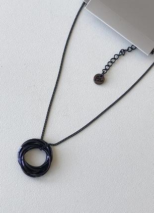 Цепочка хамелеон с кулоном кольцом