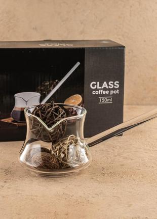 """Турка из стекла для кофе """"мокка"""" 150 мл olen's"""