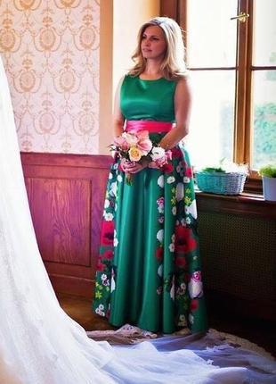 Behcetti, италия шикарное платье в пол, 42р.