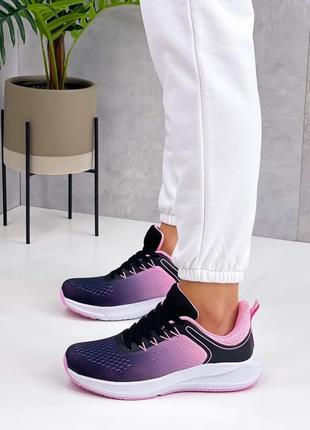 Кроссовки женские кеды чёрные розовые кросівки жіночі кеди чорні розові