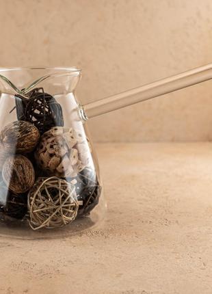 """Турка из стекла для кофе """"сидамо"""" 620 мл olen's"""