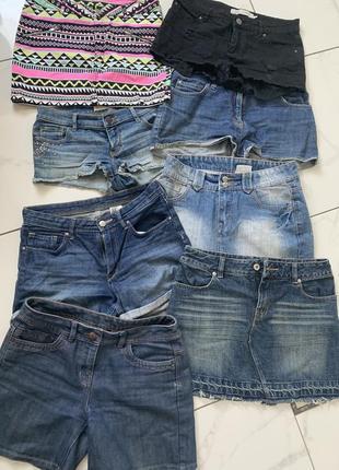 Джинсовые шорты и юбки