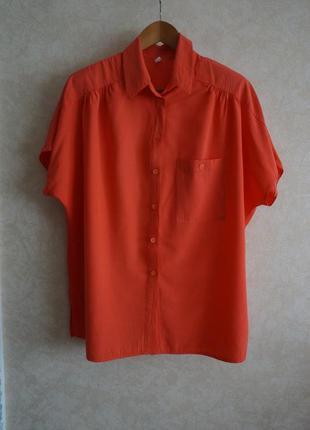 Яркая блуза рубашка винтажная вискоза
