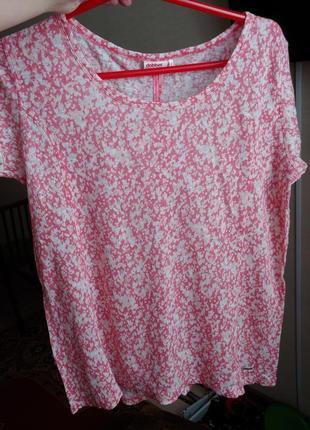 Блузка футболка лён m l
