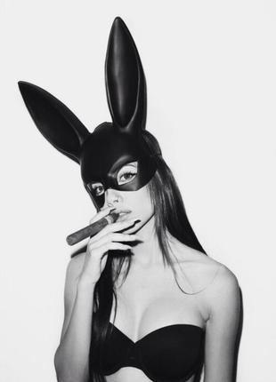 Матовая маска зайца кролика плэйбой playboy