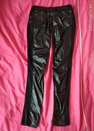 Штаны брюки лосины леггинсы кожзам замочки