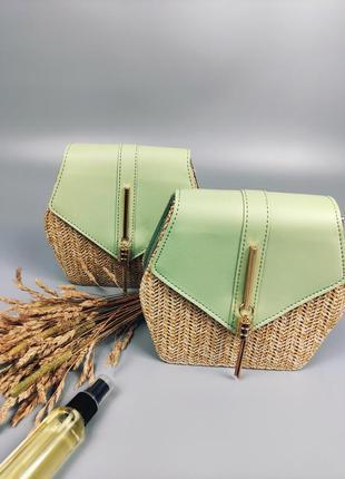 Плетеная легкая сумка