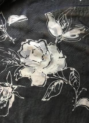 Choop. шелк 100%. элегантный шарфик в розы.