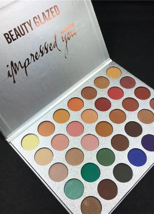 🎨🤗идеальная палетка теней для век beauty glazed impressed you powder eyeshadow palette (35 color)4 фото