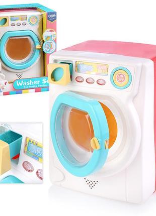 Как настоящая!!! стиральная машина. свет, звук, вращается барабан, на батарейках, в коробке