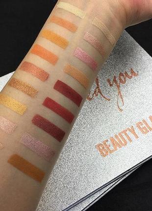 🎨🤗идеальная палетка теней для век beauty glazed impressed you powder eyeshadow palette (35 color)6 фото
