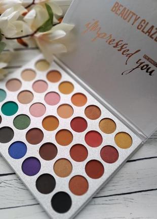 🎨🤗идеальная палетка теней для век beauty glazed impressed you powder eyeshadow palette (35 color)1 фото