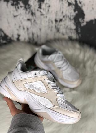 Nike m2k tekno summit white кроссовки найк женские м2к техно обувь