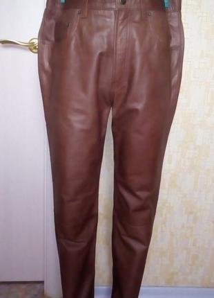 Отличные брюки из натуральной мягенькой кожи /кожаные брюки /брюки/джинсы/штаны