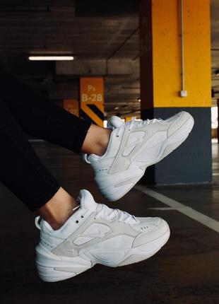 Nike m2k tekno white summit кроссовки найк женские м2к техно